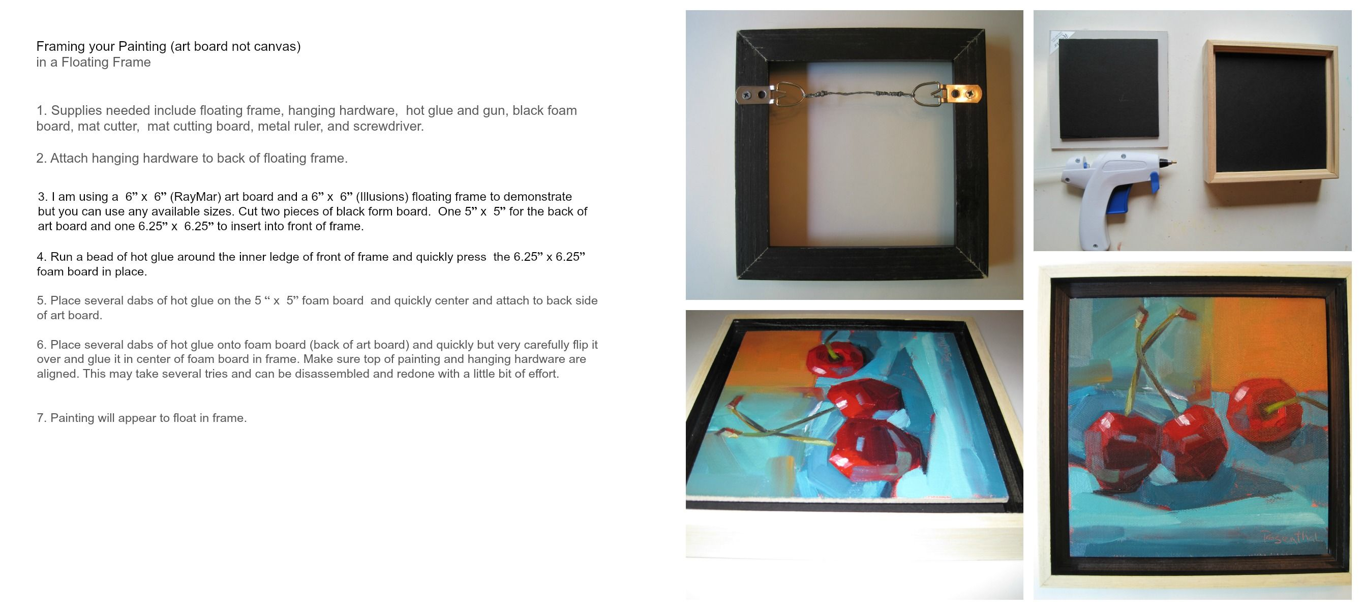 Framing your Painting (art board not canvas) in a Floating Frame ...
