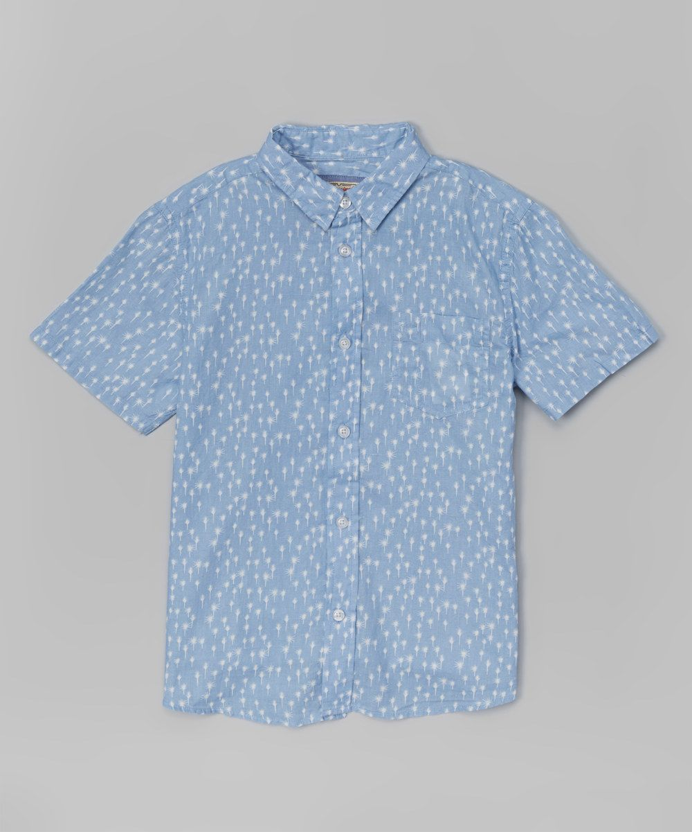 Look at this Blue Poppy Short-Sleeve Button-Up on #zulily today!