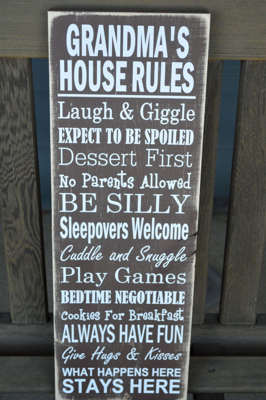Mother's Day Grandma Gift - Grandma's Rules - Grandma's ...