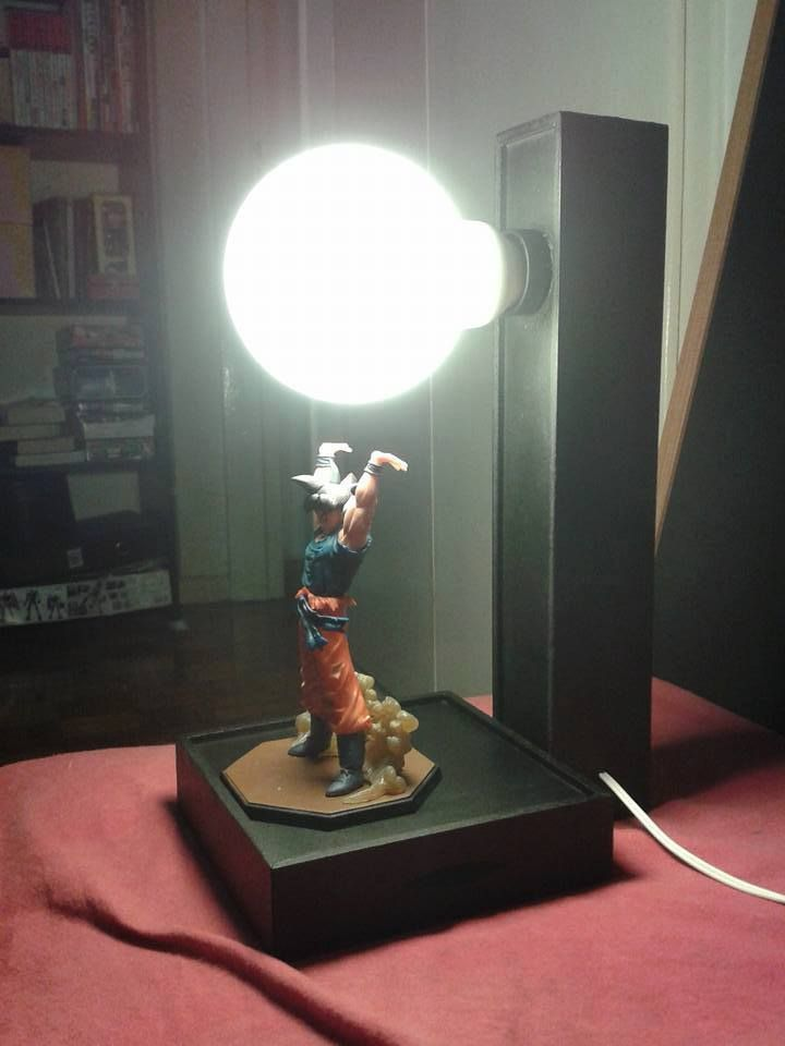 Dragon Ball Z Goku Spirit Bomb Lamp Geektak Dragon Ball Lamp Game Room Decor