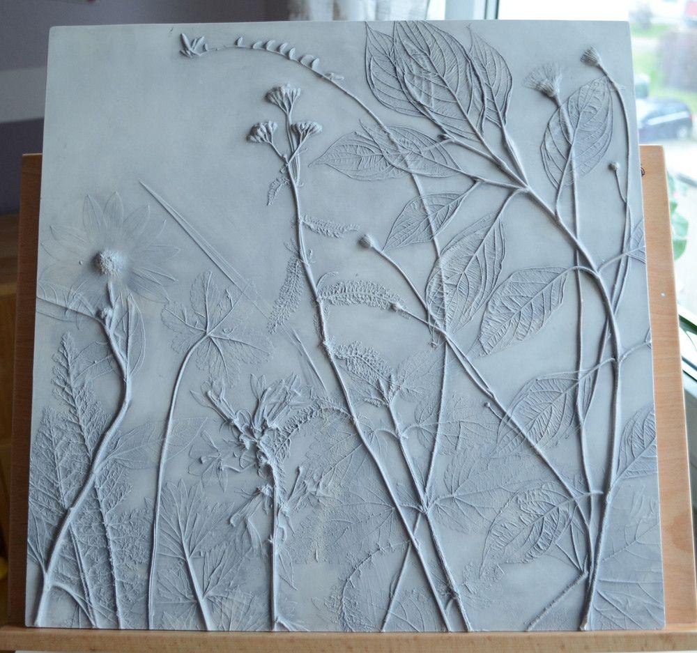 Schafgarbe Hartriegel Geschenk Wanddeko Reliefbild