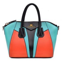 Luxury handbags color blocked casual fashion shoulder bags (SKY BLUE) shopswagstore.com