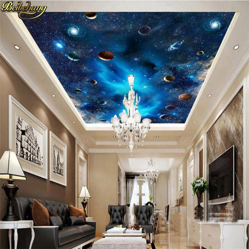 Barato Papel de parede foto papel de parede beibehang Disco Galaxy ...