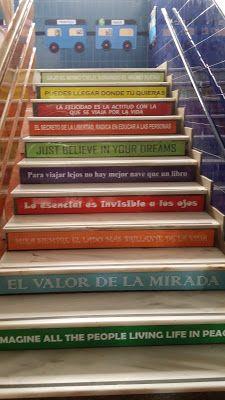 Escaleras Con Frases Y Mensajes Biblioteca Escolar Colegio