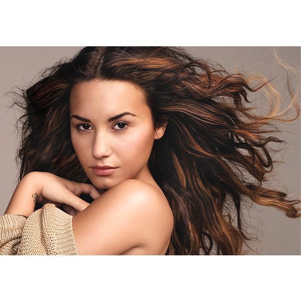 Demi Lovato's Second Chance: Beauty: glamour.com ❤ liked on Polyvore