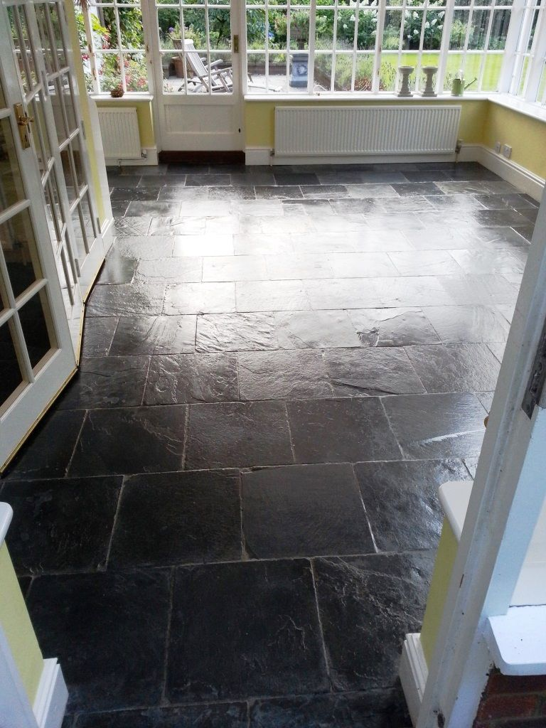 Every now and again i get called to work on tiled floors which slate tiled floor bedford after cleaning and sealing dailygadgetfo Image collections