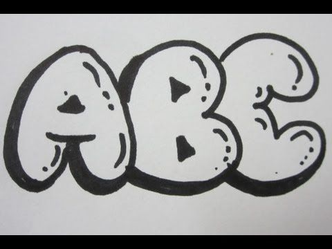 How To Draw Bubble Letters   All Capital Letters   Drawing     How To Draw Bubble Letters   All Capital Letters