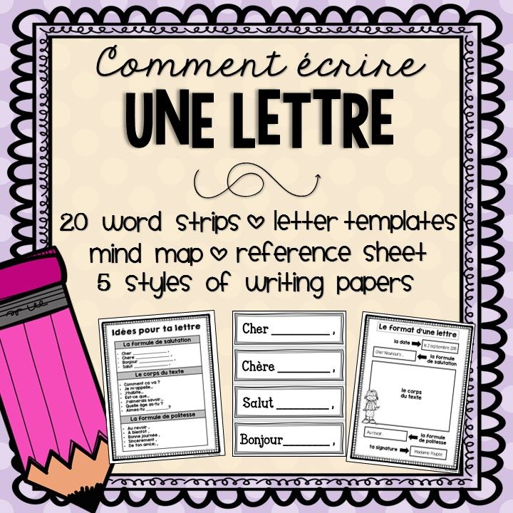french letter writing  comment  u00e9crire une lettre