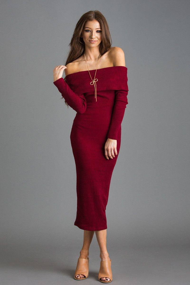 Helllooo gorgeous! This fitted sweater dress isn't just the ...