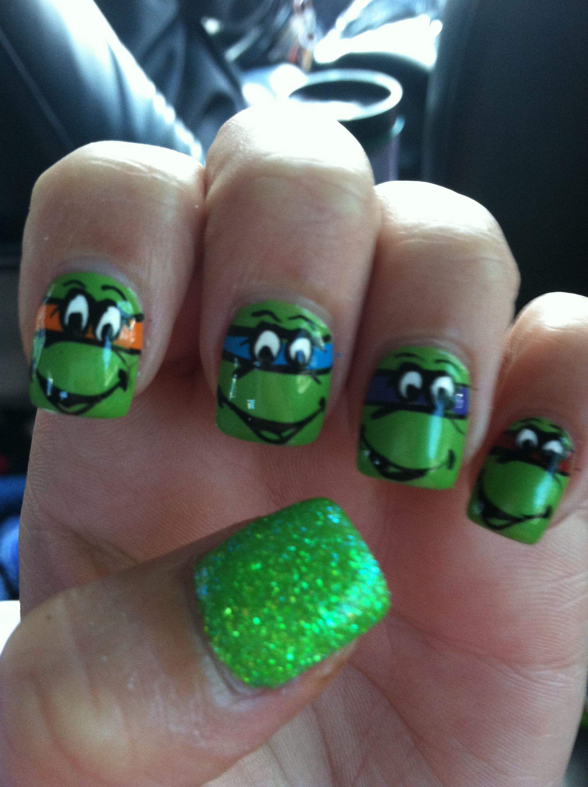 Had to get my ninja turtle nails!! | nails | Pinterest