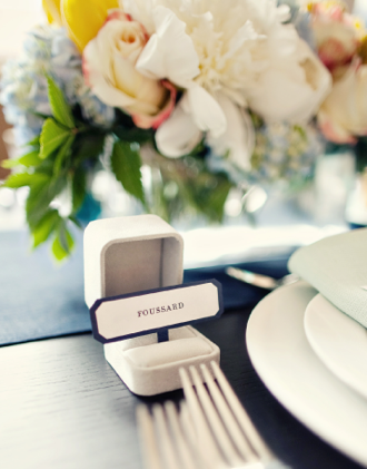 Cool Idea Ring Box Place Card