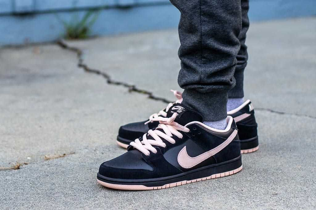 Nike Sb Dunk Low Black Washed Coral On Feet Sneaker Review Sneakers Men Fashion All Nike Shoes Sneakers