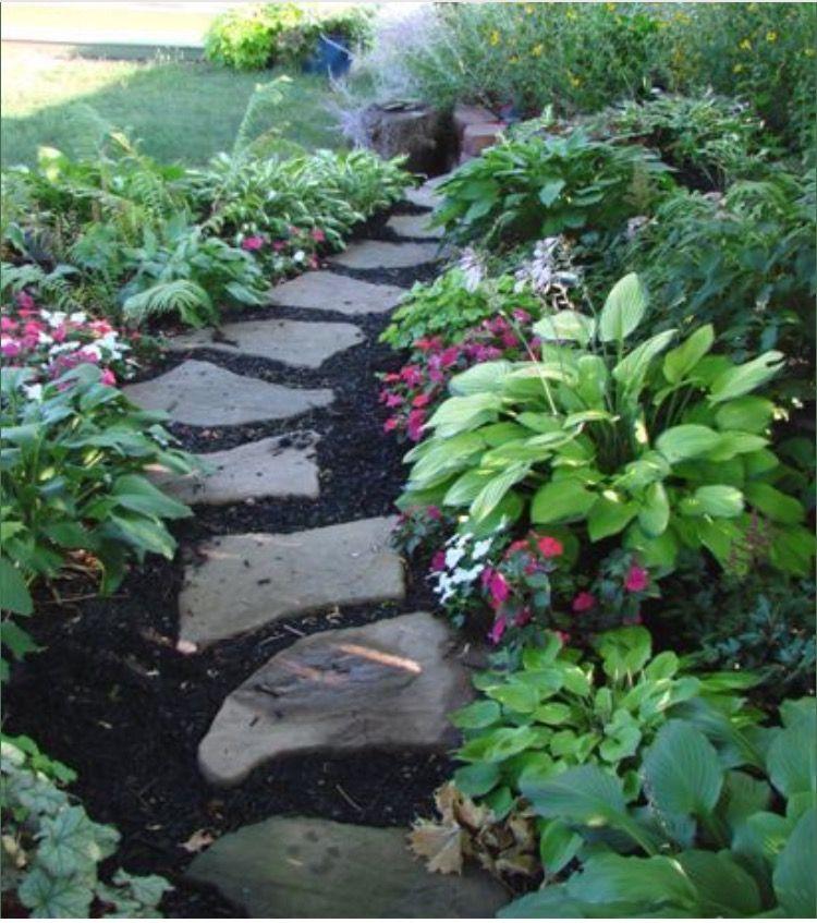 Garden path stones in the garden pinterest garden for Garden path stones