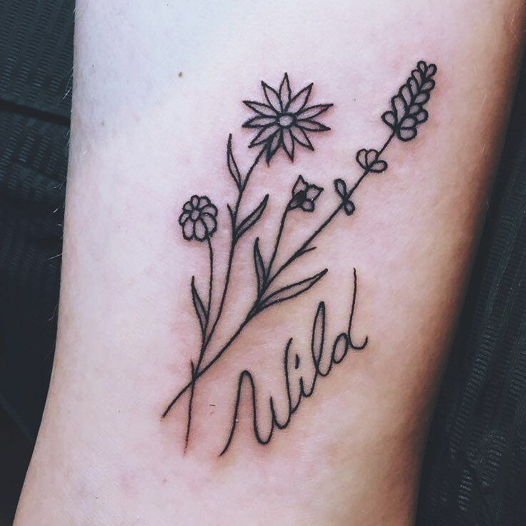 Pin By Ninastyles On Artwork Tattoos Small Flower Tattoos