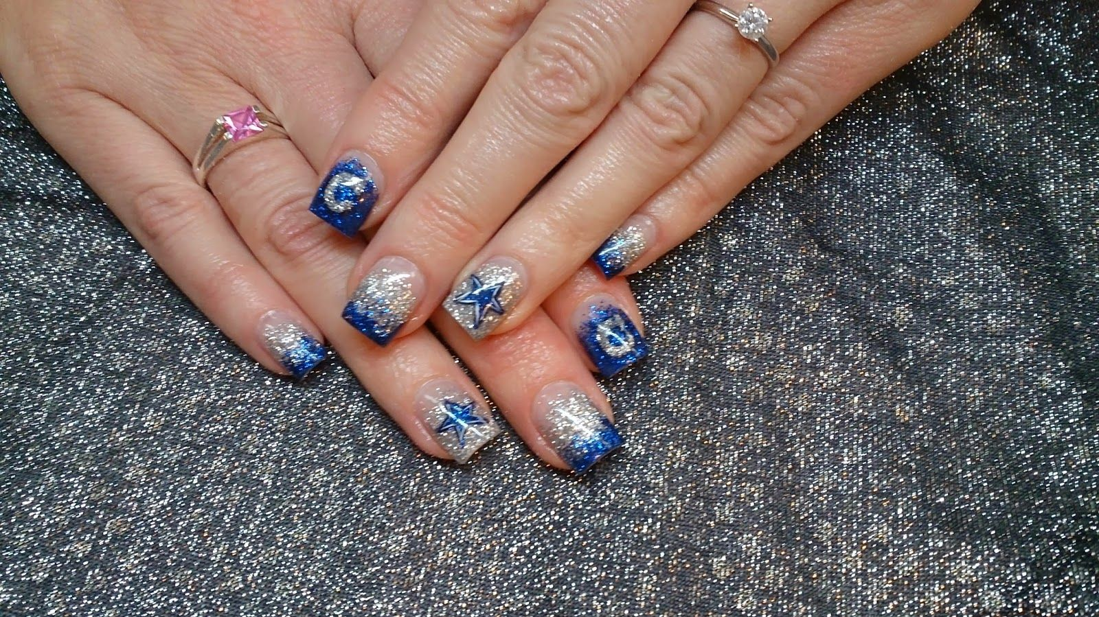 dallas cowboys nail design | nail ideas | Pinterest | Dallas cowboys ...