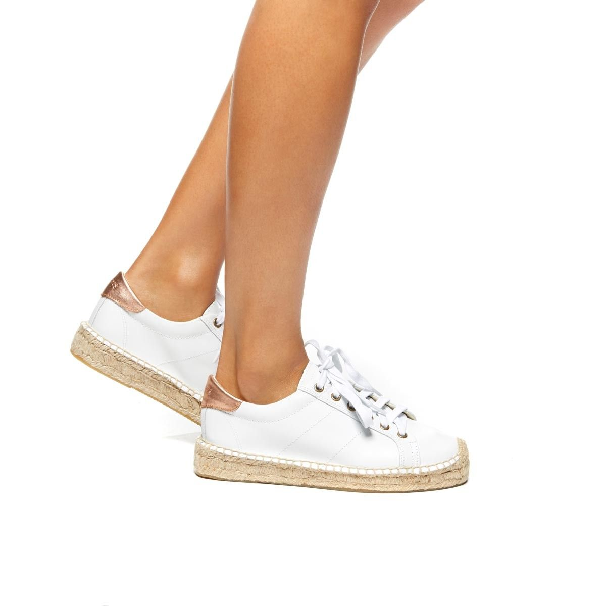 white leather espadrille sneakers
