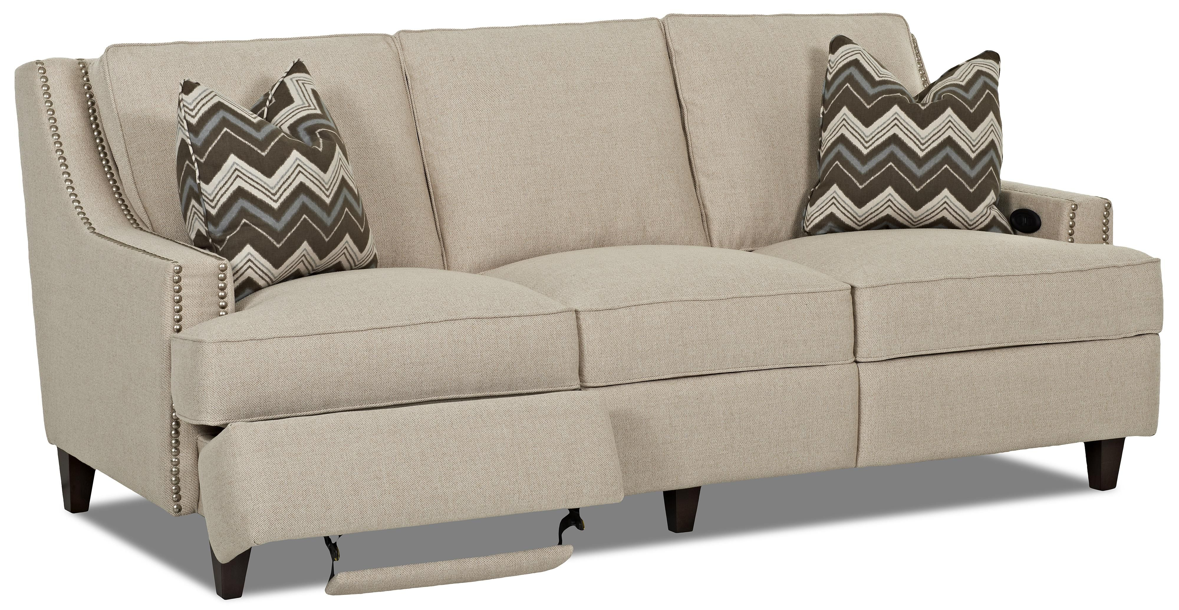 Transitional Power Hybrid Sofa Manufacturer Klaussner Width side