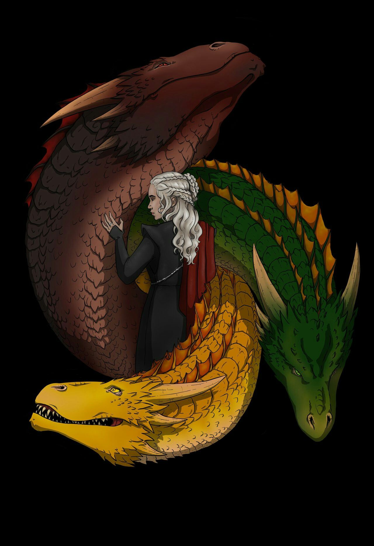 best sneakers d8498 e262d Game of thrones fanart wallpaper. Daenerys Targaryen, mother of dragons.