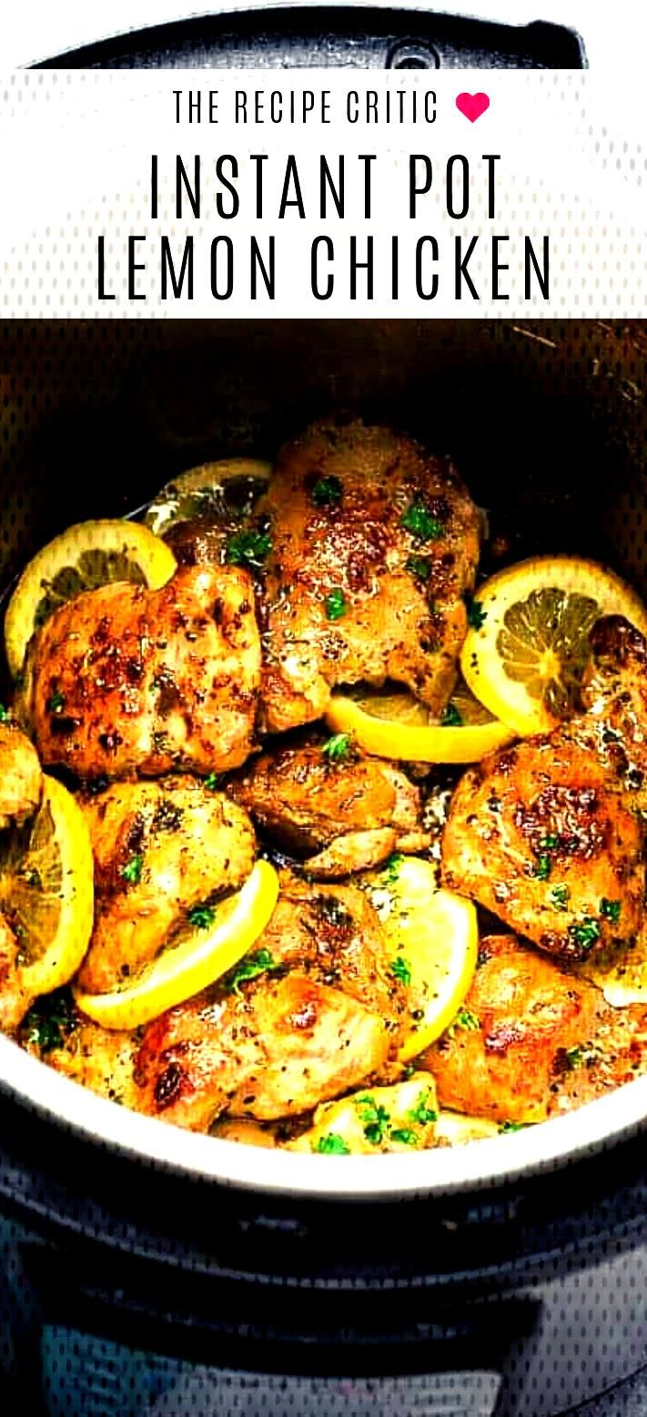 Instant Pot Lemon Chicken - Instant Pot Lemon Chicken with garlic is SO good and SO easy with the