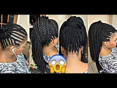 Best Braiding Pattern 4 Crochet Ponytail Youtube Hair In 2019