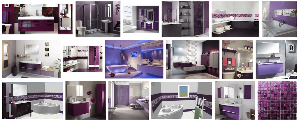 Decoration Salle De Bain Violette Couleur Salle De Bain