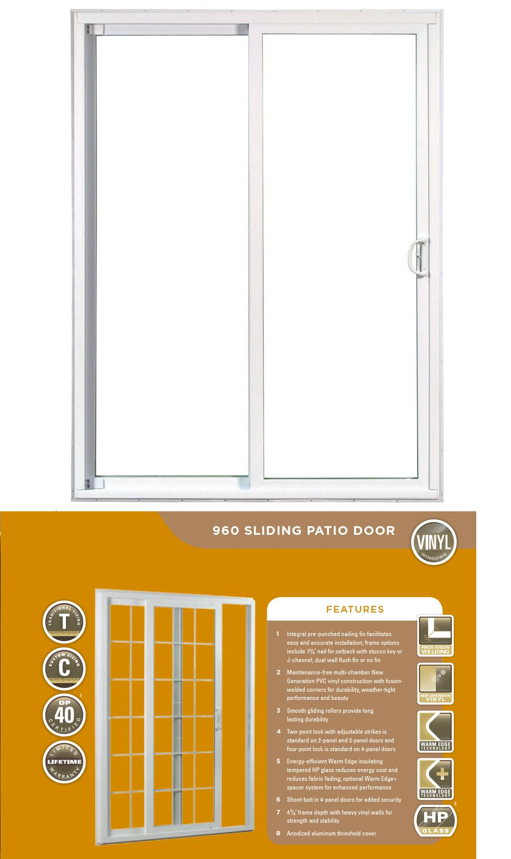Doors 85892 Ply Gem Pro Series 960s Standard Two Panel Patio Sliding Door Low E Glass Buy It Now Only 995 On Sliding Patio Doors Ply Gem Sliding Doors