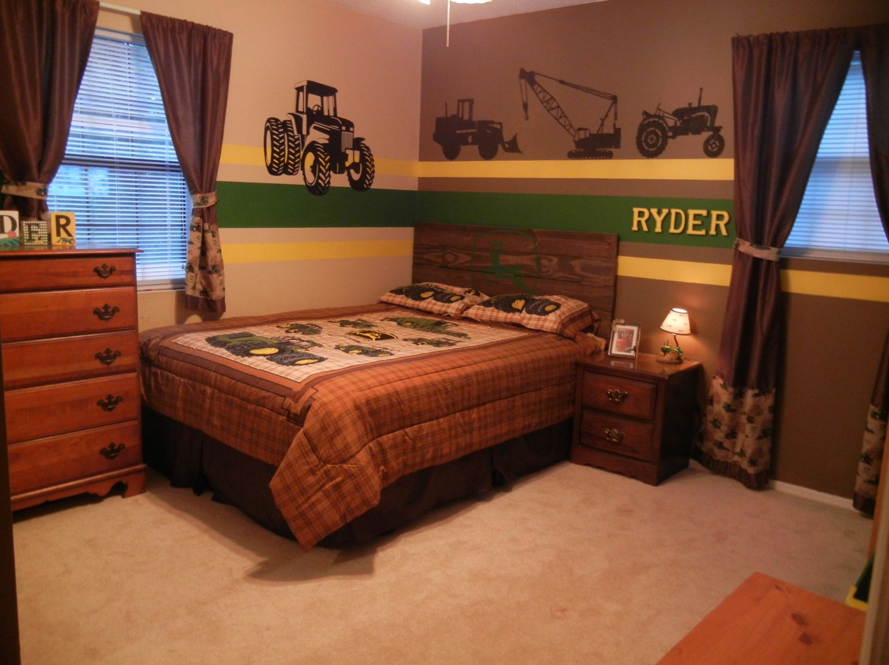 John Deere Kids Room Decor Mens Bedroom Interior Design - John deere idees de decoration de chambre