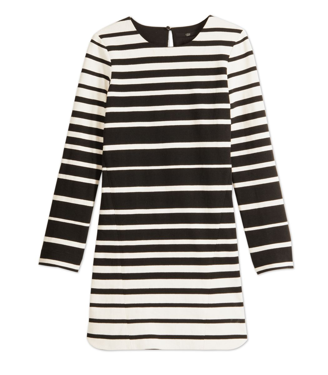 Tibi Variegated Stripe Dress - ShopBAZAAR