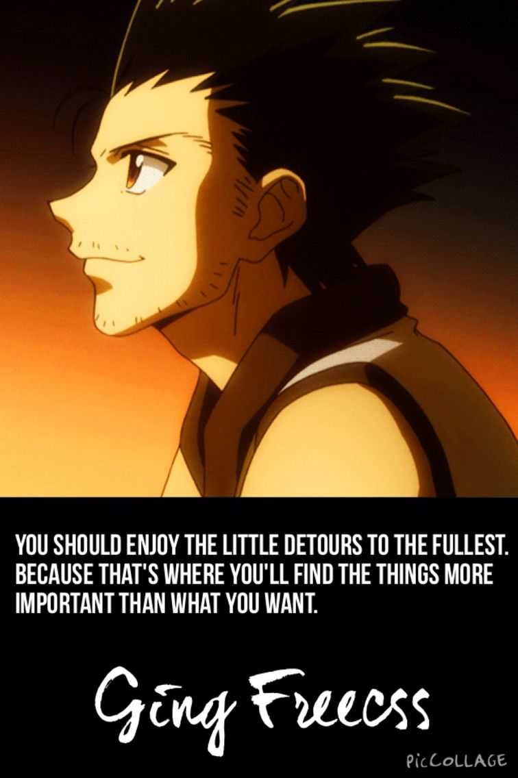 Ging Freecss quote: (Hunter X Hunter) You should enjoy the little