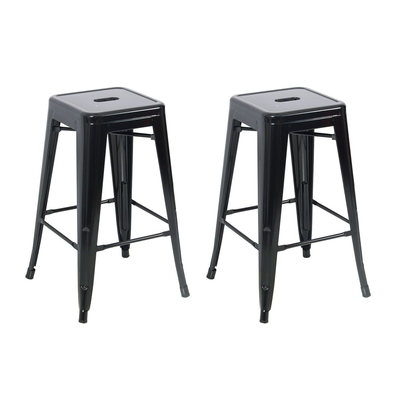 Set Of 2 Metal Bar Stool Counter Height Home 24 034 26 034 30 034