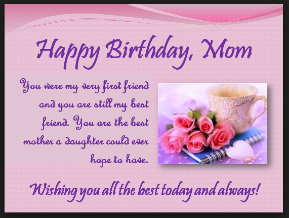 Happy Birthday Wishes And Images For Mom Birthday Messages With