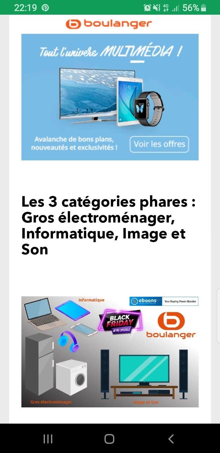 Black Friday Boulanger Les Produits High Techs A L Honneur Vieux Ordinateurs Produits Apple Gros Electromenager
