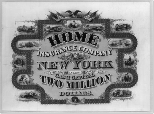 National Bank Note Company New York N Y Home Insurance Home