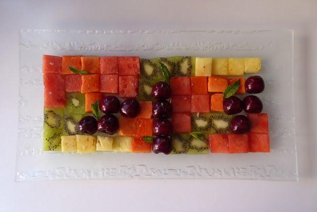 La Chef A: Ensalada Tetris de frutas
