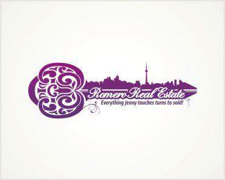 Romero Real Estate Logo design - A pictorial logo with Toronto's ...
