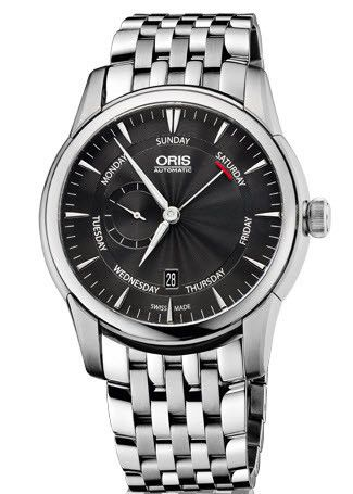 Oris Watch Artelier Small Second Pointer Day Bracelet #bezel-fixed #bracelet-strap-steel #brand-oris #case-material-steel #case-width-44mm #date-yes #day-yes #delivery-timescale-4-7-days #dial-colour-black #gender-mens #luxury #movement-automatic #official-stockist-for-oris-watches #packaging-oris-watch-packaging #style-dress #subcat-artelier #supplier-model-no-01-745-7666-4054-07-8-23-77 #water-resistant-50m