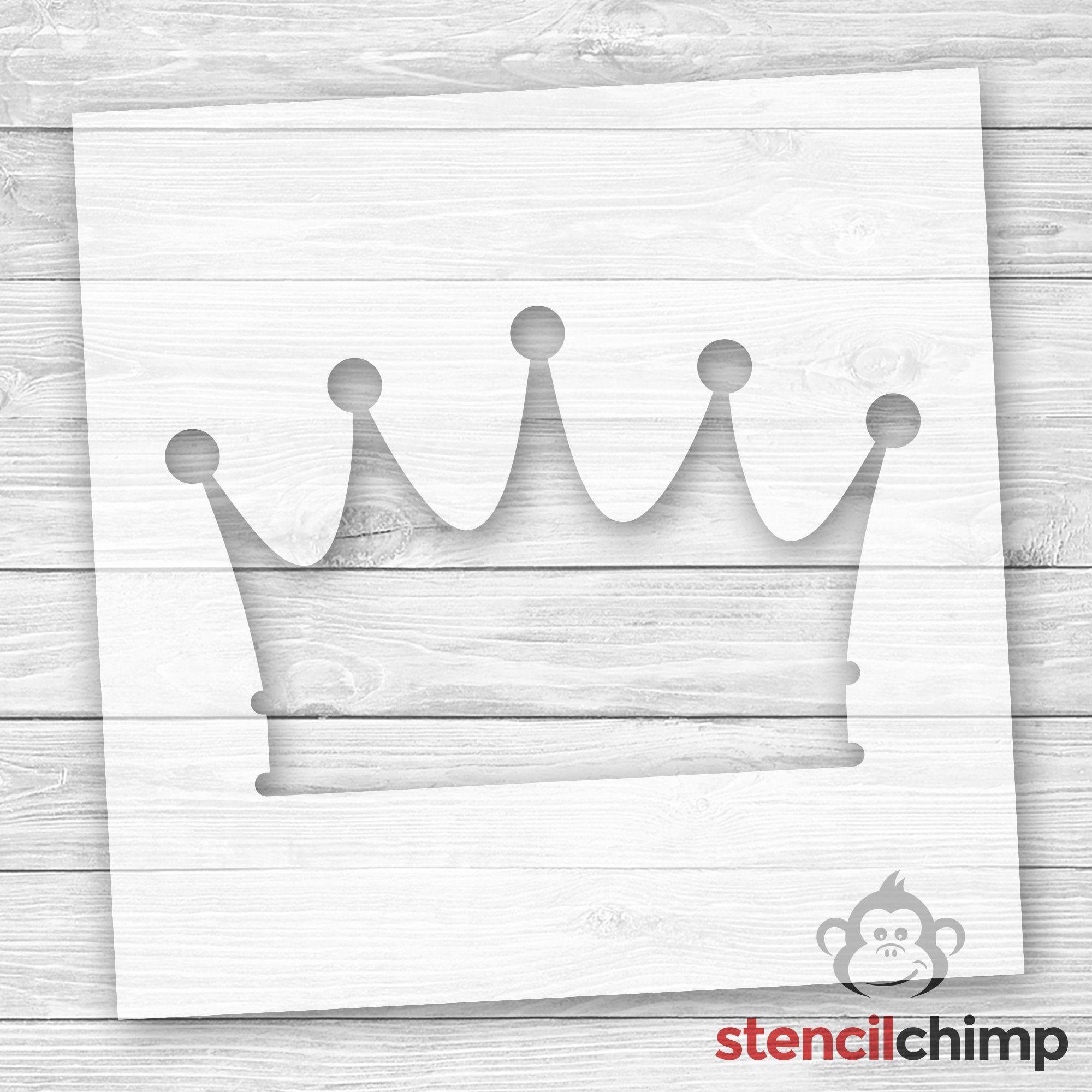 Crown Stencil Prince Stencil Princess Stencil Bathroom