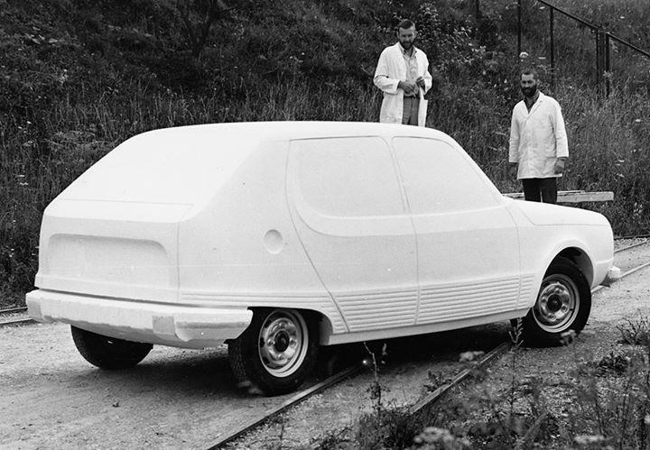 "OG | Trabant-Wartburg P760 ""Hangebauchschwein"" | Full-size prototype dated 1971-72 | © Archiv Dietel"