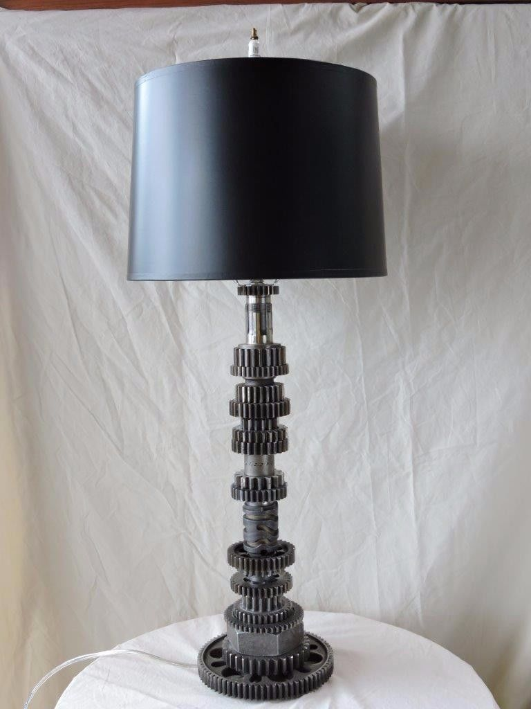 Steampunk Lamp Motorcycle Gears - Art Plumbing and Construction ...