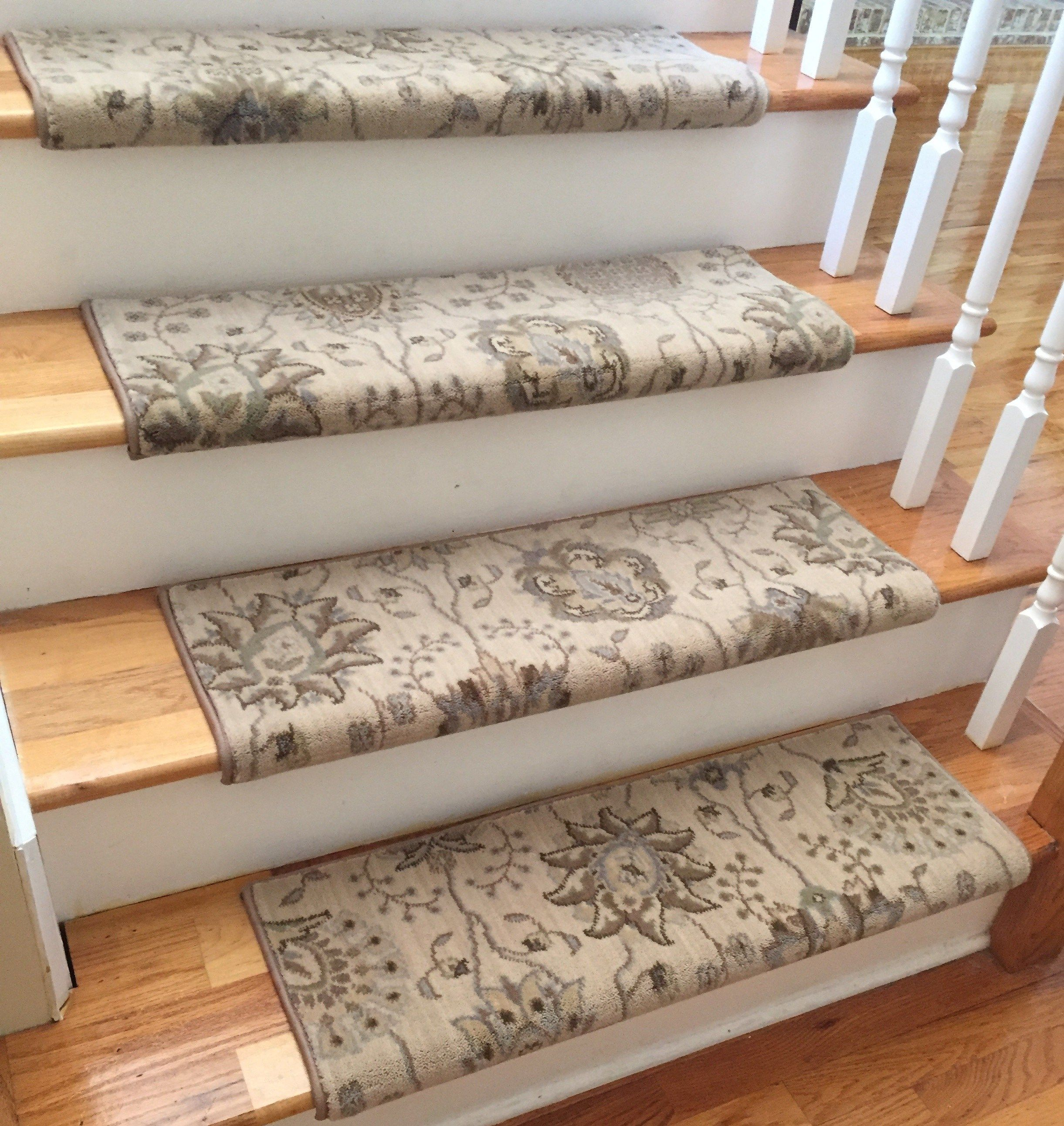 Authentic Wool Satin CreamTRUE Bullnose™ Carpet Stair Tread New Zealand  Wool Emporium Runner Replacement Upgrade Safety Comfort (Sold Each)