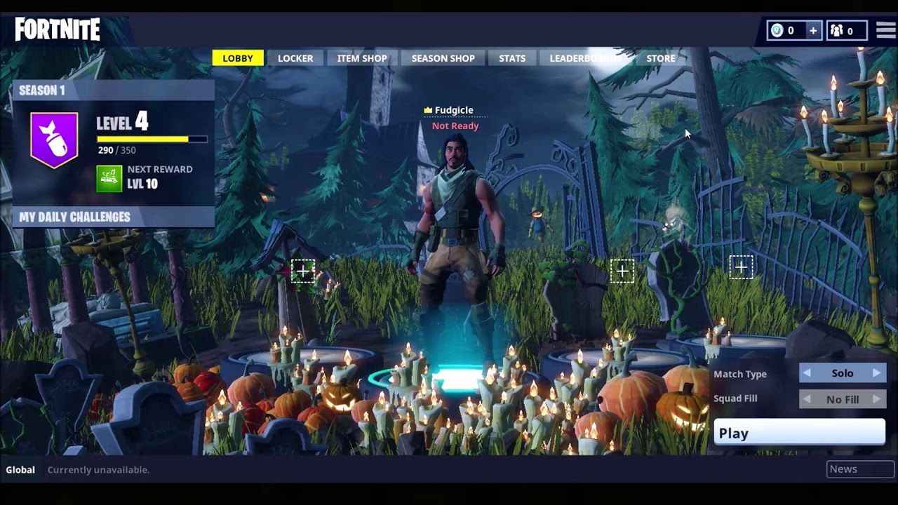 Old Og Fortnite Battle Royale Lobby Music Season 1 Games