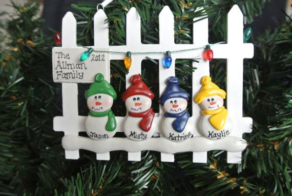 Personalized Family Picket Fence Ornament  by MISTYSCLAYCUTIES, $13.00