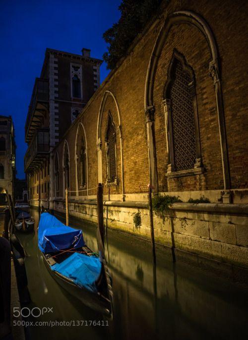 Morning Blue by ljames6581  architecture blue city europe gondola italia italy morning quiet travel veneto venezia venice water