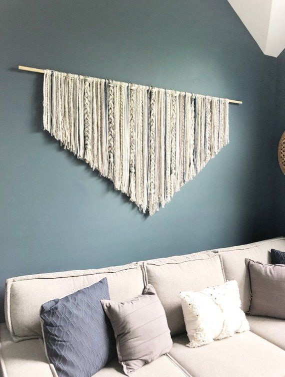 Extra Large Macrame wall hanging  dorm decor  Boho decor  wall art  large wall decor  yarn wall hanging  over bed decor