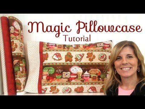 magic pillowcase tutorial with shabby fabrics youtube n hen kissen pinterest n hen. Black Bedroom Furniture Sets. Home Design Ideas