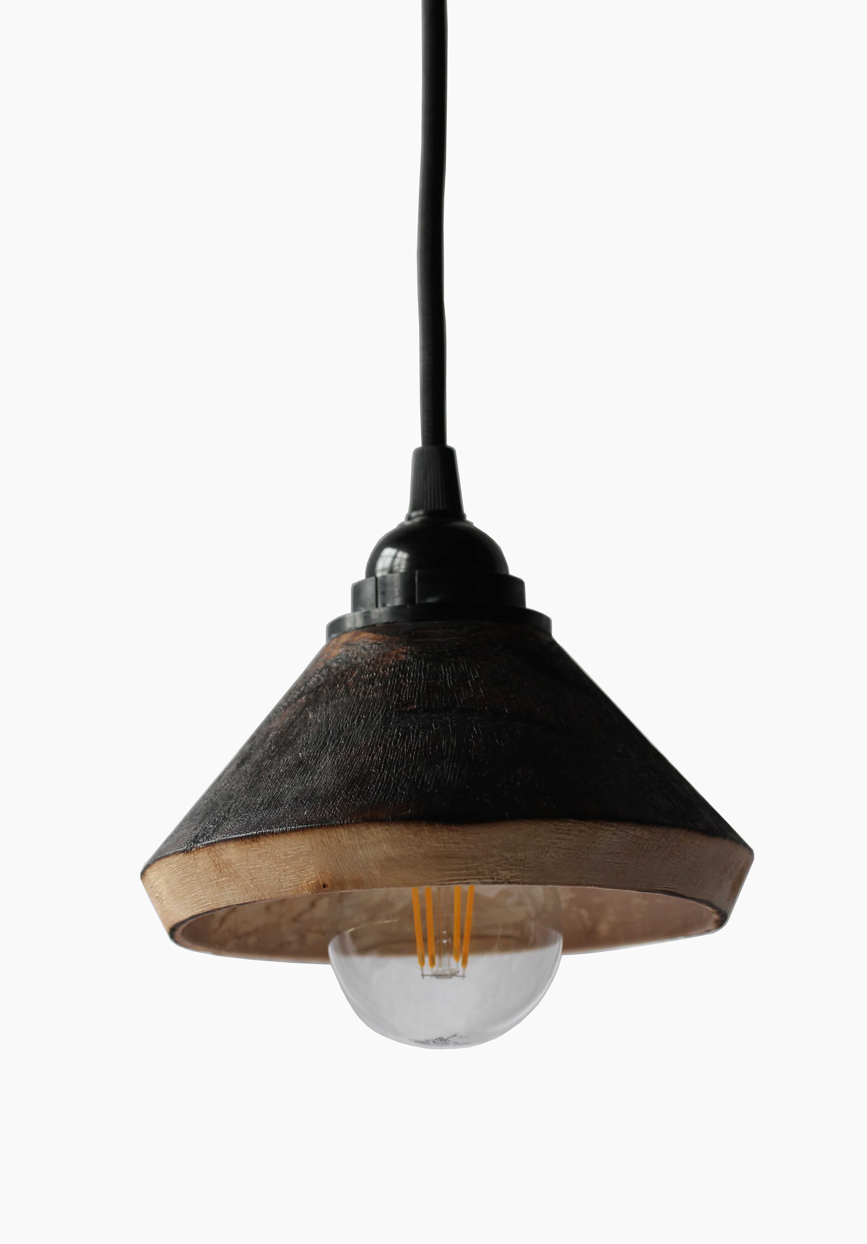 Plafonnier en bouleau Luminaires Décoration artisanale