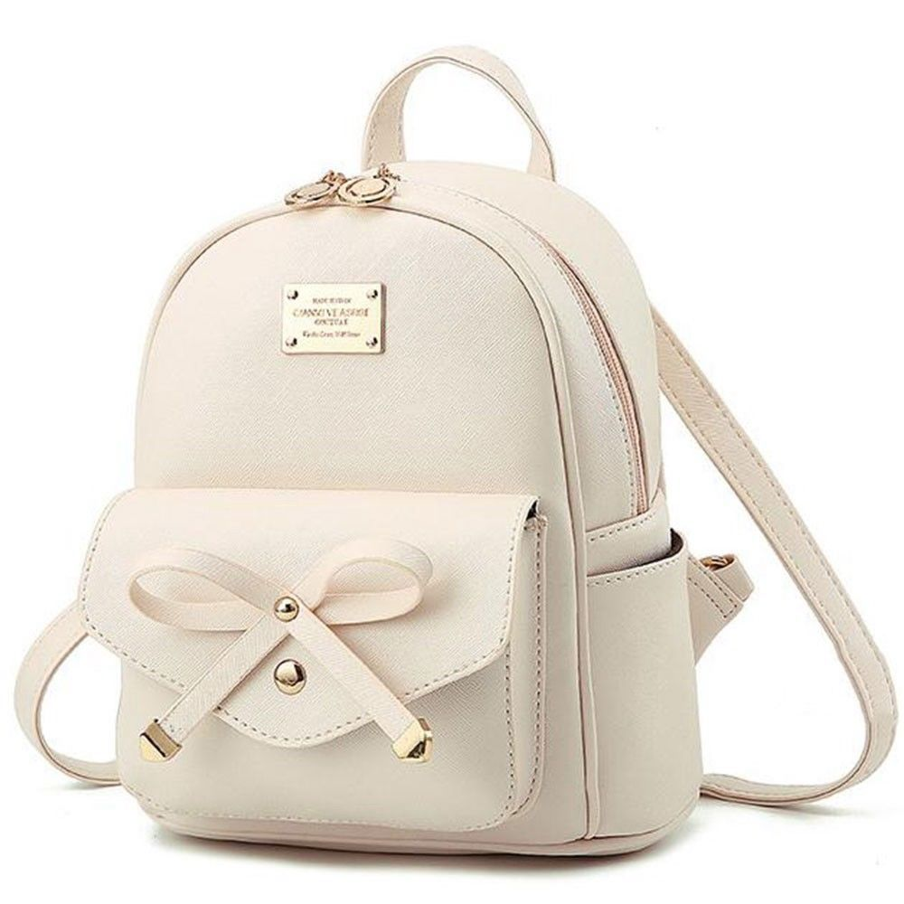 124158195f Girls Bowknot Cute Bag PU Leather Backpack Mini Backpack Purse for Women  Popular  fashion  clothing  shoes  accessories  womensbagshandbags (ebay  link)