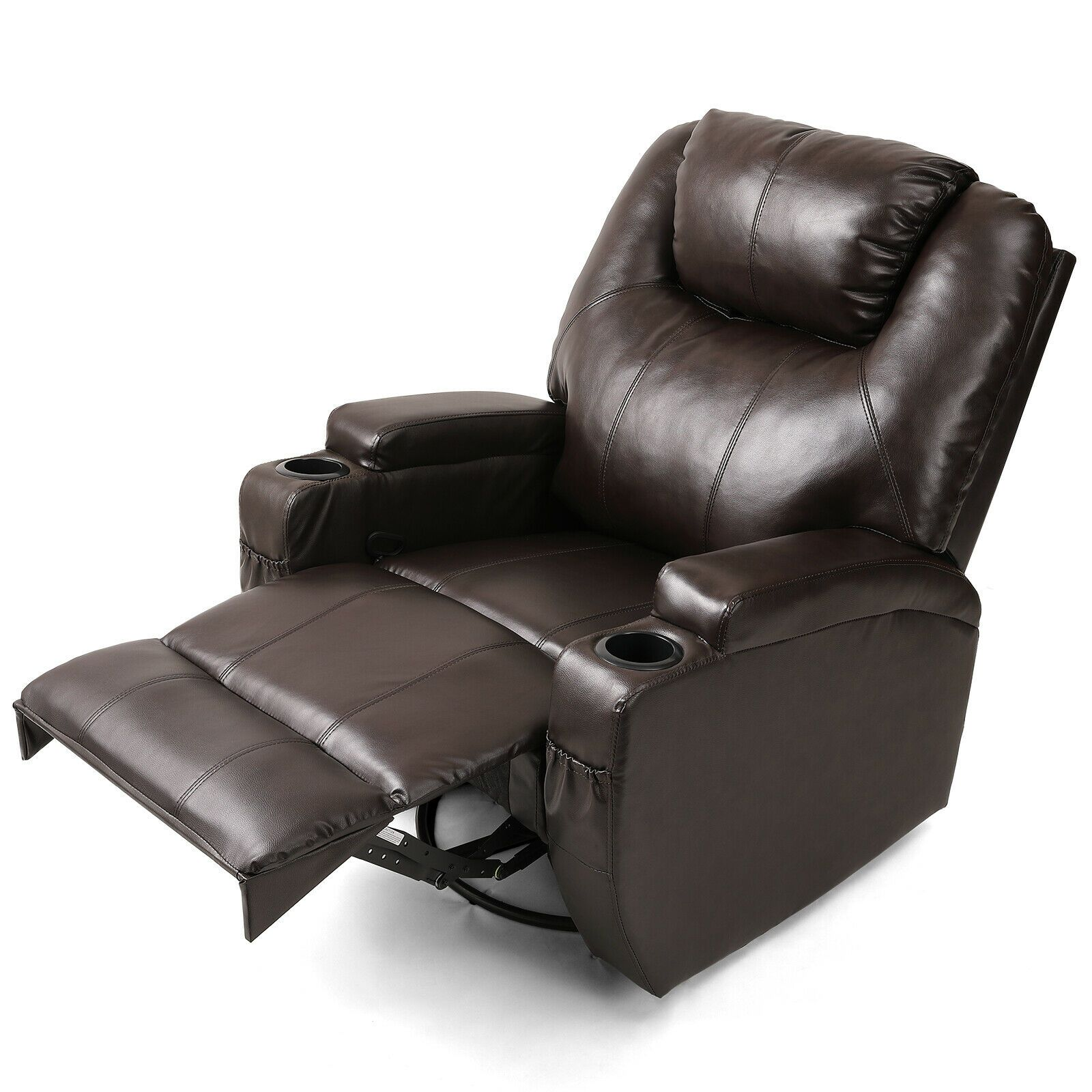 Massage Chair Recliner Leather Vibrating Heat Sofa Lounge