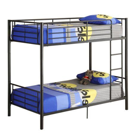 Amazon.com - Walker Edison Twin-Over-Twin Bunk Bed, Black