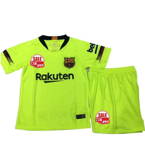 factory price 04f48 15eef Kids Barcelona Away Soccer Jersey Kit Children Shirt + ...